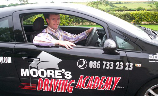 Tom Moore of Moores Driving Academy in Dual the Academy's Car